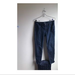 LOFT• skinny curvy ankle jeans with zippers